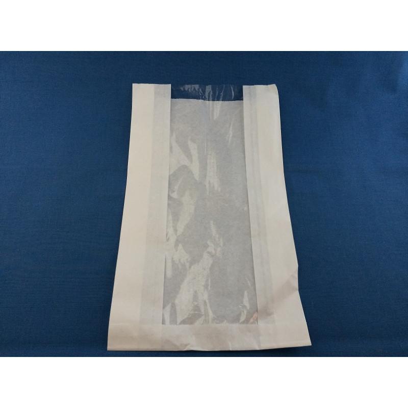 Пакет бумажный 170*70*395 крафт без печати с окном
