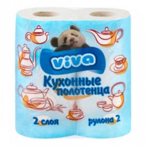 """Полотенца бумажные """"VIVA"""" 2 слойные"""