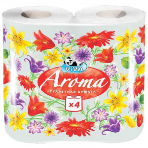 """Бумага туалетная """"VIVA Арома"""" 2 слойная"""