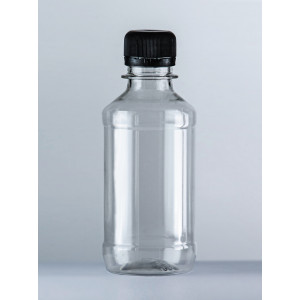Бутылка ПЭТ 0,25л прозрачная с крышкой