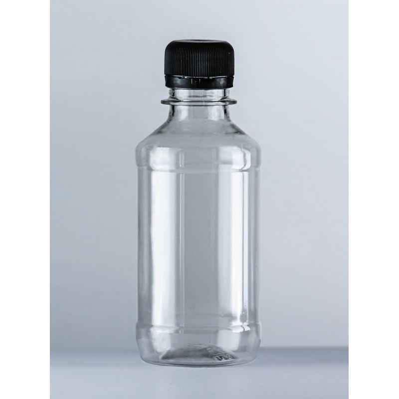 Бутылка ПЭТ 0,2л прозрачная с крышкой
