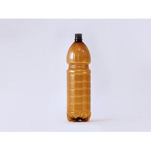Бутылка ПЭТ 1,5л коричневая с крышкой