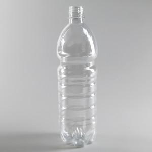 Бутылка ПЭТ 1л прозрачная с крышкой
