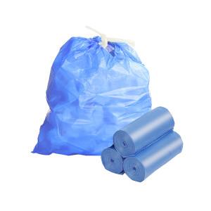 Мусорные мешки 60л*20шт с завязками высокопрочные синие