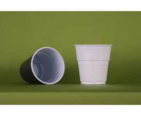 Стакан кофейный 155 мл Тип 1 (двухцветный/белый) (Упакс-Юнити)
