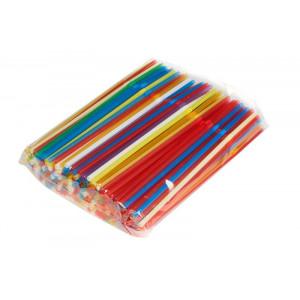 Трубочки для коктейлей 8*24 цветные