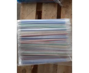 Трубочки для коктейлей 8*24 цветные в индивидуальной упаковке