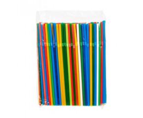 Трубочки для коктейлей с гофрой 5*21 цветные