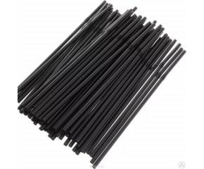Трубочки для коктейлей с гофрой 5*21 чёрные